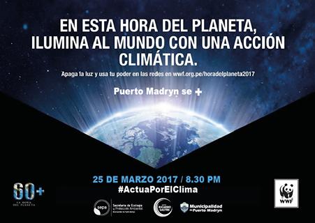 """Madryn se suma a """"La Hora del Planeta 2017"""""""