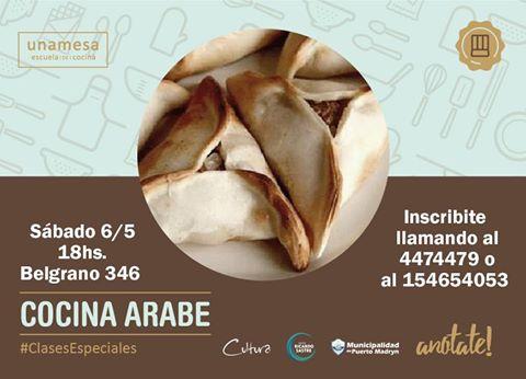 """#Madryn Clase solidaria de cocina árabe en """"Unamesa"""""""