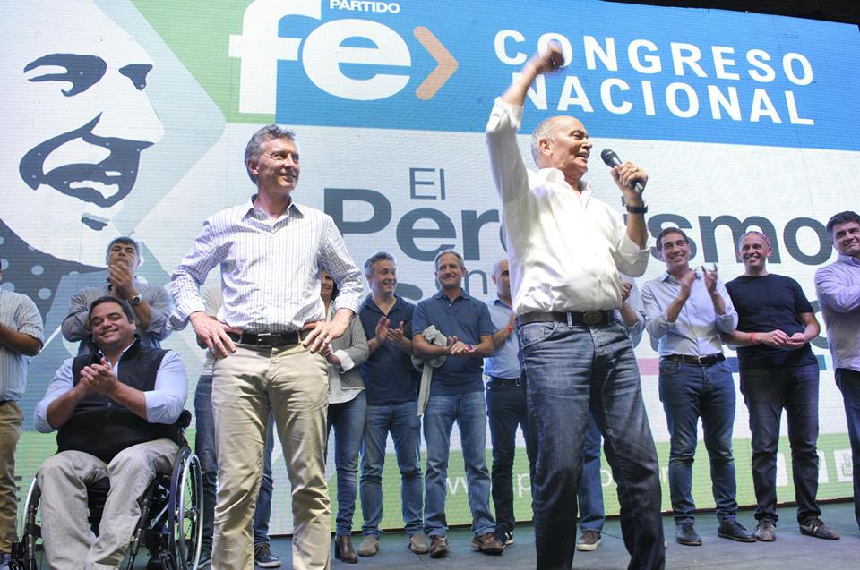 Venegas junto Macri en el día del trabajador