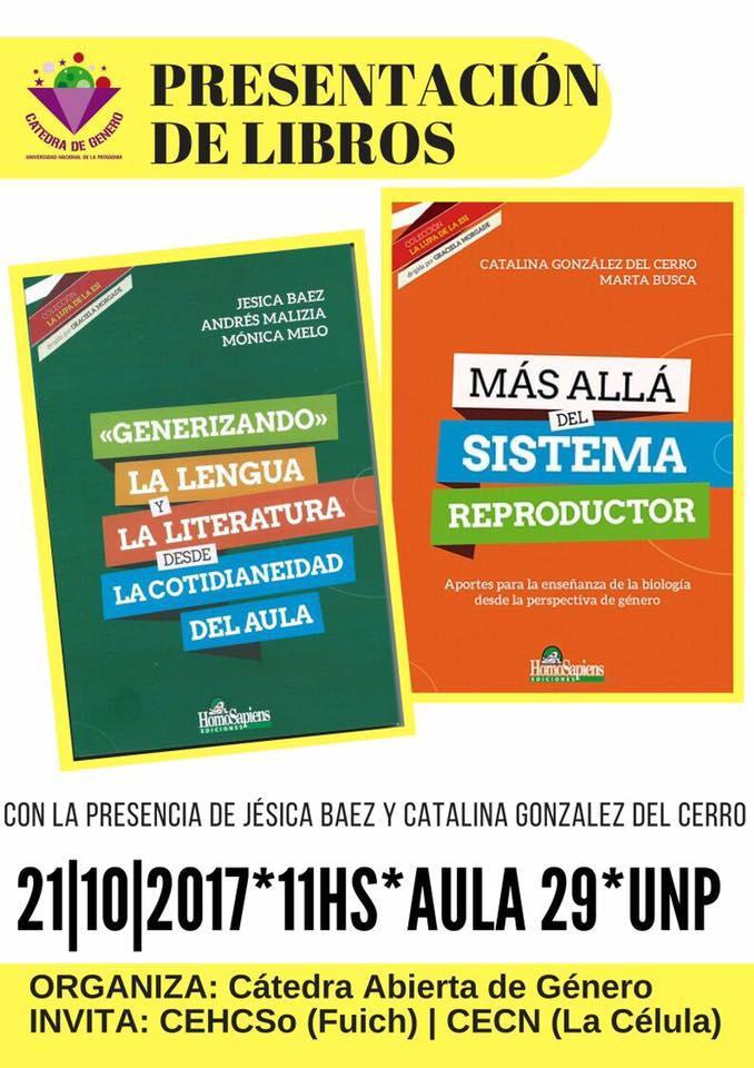 Clase pública  de investigadoras de UBA/CONICET,  Catalina González del Cerro y Jesica Báez