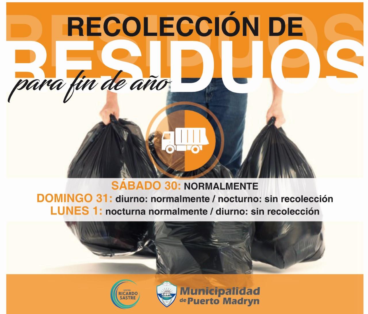 Recolección de Residuos Urbanos de Fin de Año.