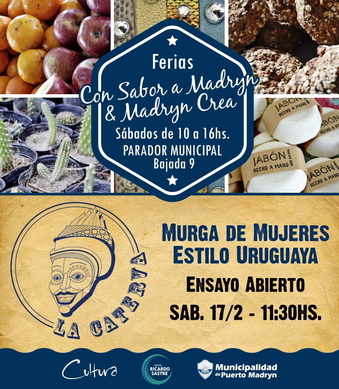 """Edición Especial de las Ferias """"Con Sabor a Madryn y """"Madryn Crea"""""""