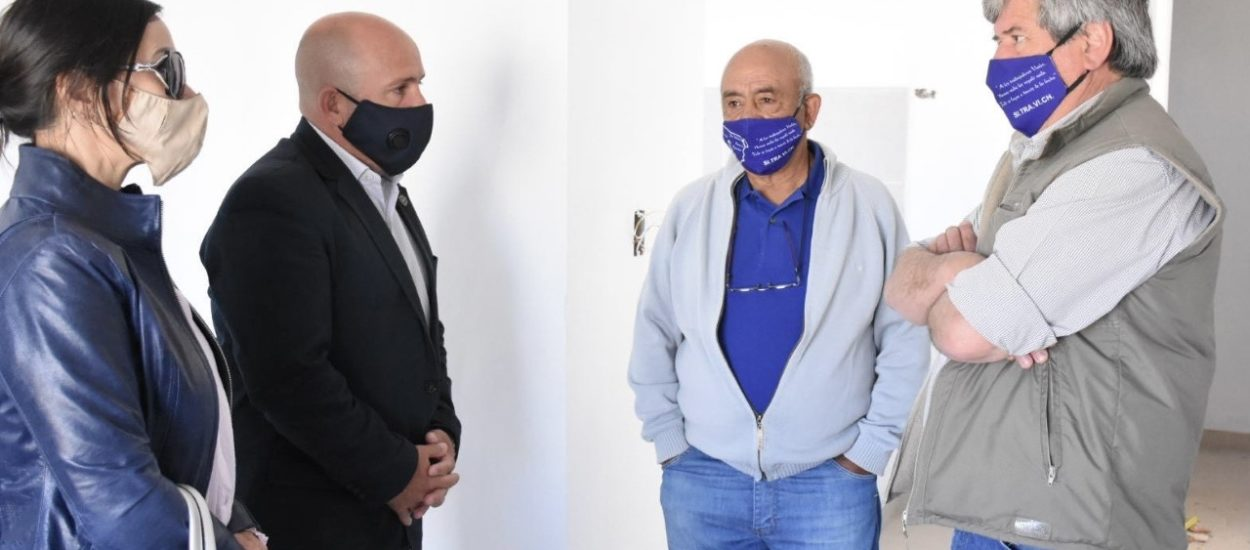 SASTRE RECORRIÓ LA OBRA DE VIVIENDAS DEL SITRAVICH