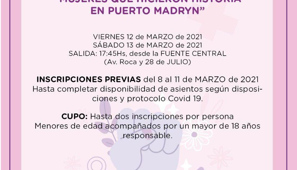 """REALIZARÁN DOS CITY TOURS PARA HOMENAJEAR A LAS """"MUJERES QUE HICIERON HISTORIA EN PUERTO MADRYN"""""""