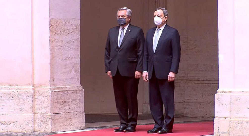 ALBERTO FERNÁNDEZ RECIBIÓ EL APOYO DEL PRIMER MINISTRO ITALIANO POR LA DEUDA