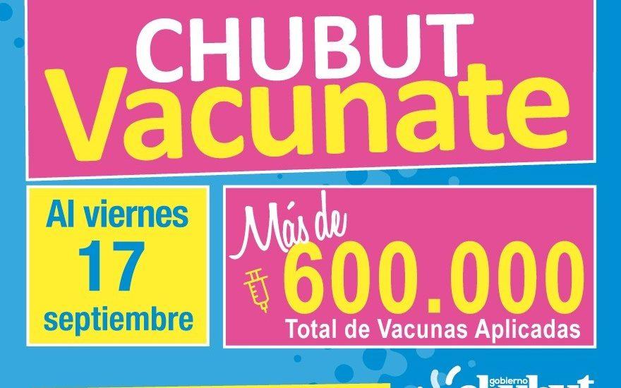 CHUBUT APLICÓ MÁS DE 600.000 DOSIS DE VACUNAS CONTRA EL COVID-19