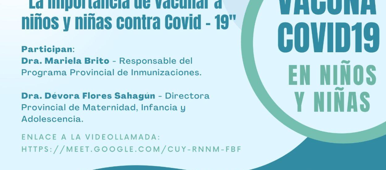 PROVINCIA REALIZARÁ UN CONVERSATORIO ABIERTO SOBRE VACUNACIÓN DE NIÑOS Y NIÑAS CONTRA EL COVID-19